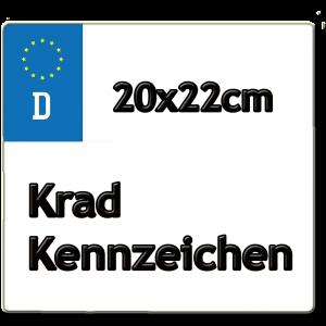 20x22cm Krad Kennzeichen