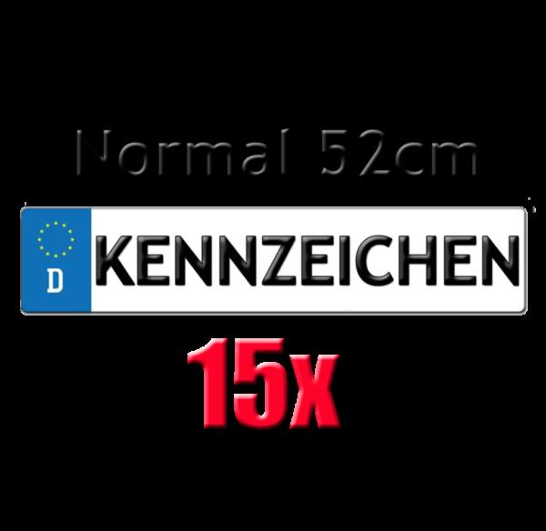 15x Autokennzeichen 52cm