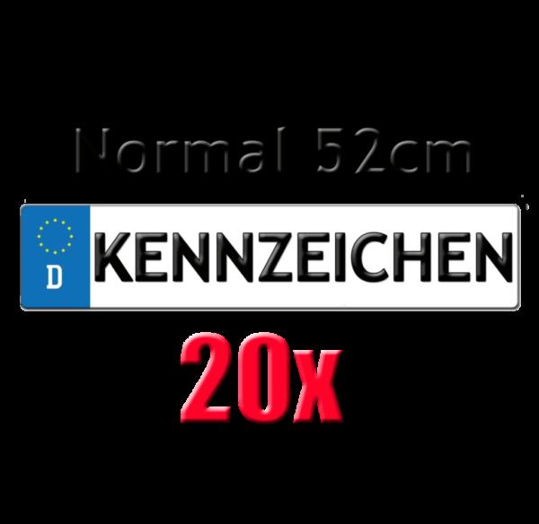 20x Autokennzeichen 52cm