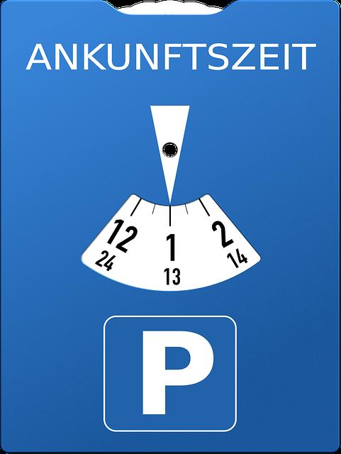parkscheibe parkuhr